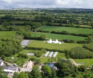Ceridwen Glamping, double decker bus and Yurts